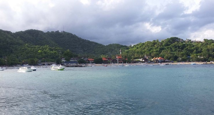 padang bai from the ferry