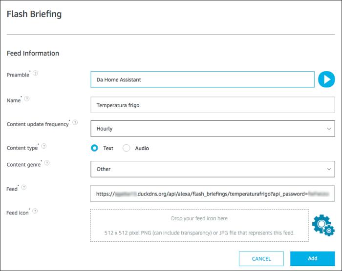 Alexa Flash Briefing - step 3