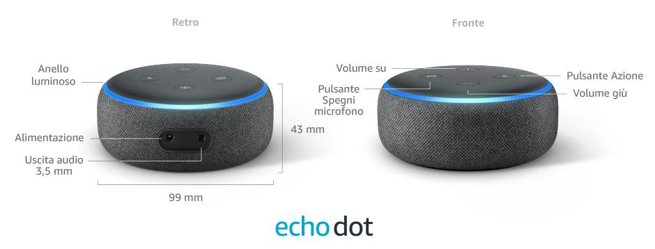 Amazon Echo Dot - Dettagli tecnici