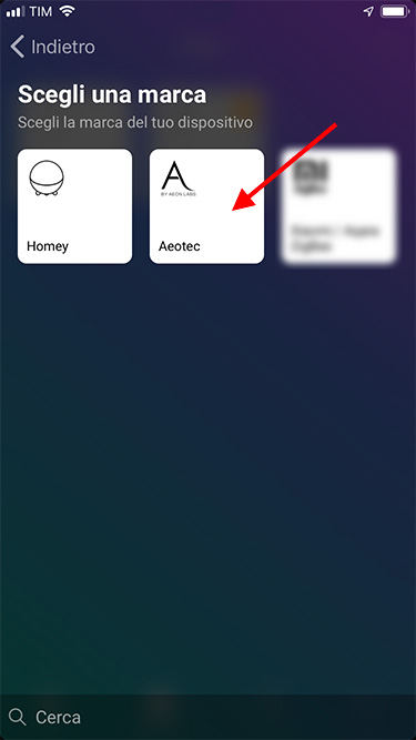 App Homey - Aeotec - Add device - 1