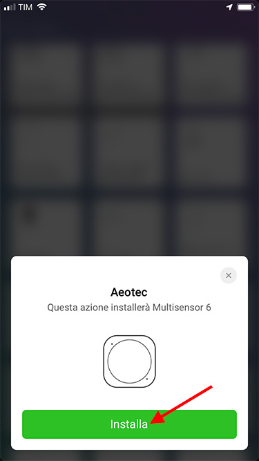 App Homey - Aeotec - Adding device Multisensor  6  Gen5 2019