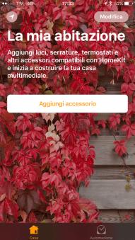 Apple HomeKit iOS start page