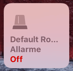 Apple HomeKit - Allarme