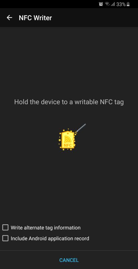 Automagic * Automator - tag NFC write - 2
