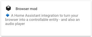 Browser mod - Ricerca HACS