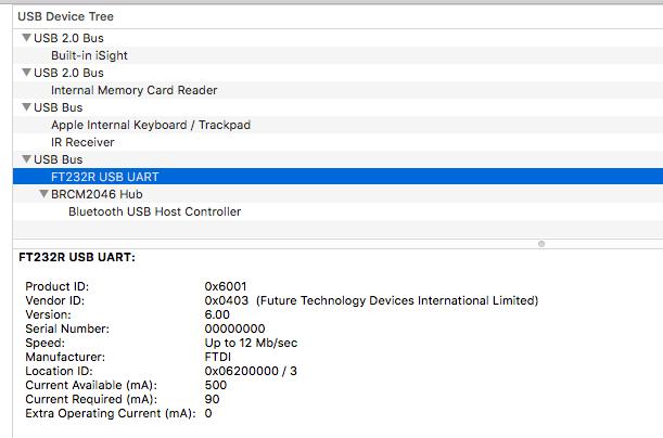 FT232R on Mac