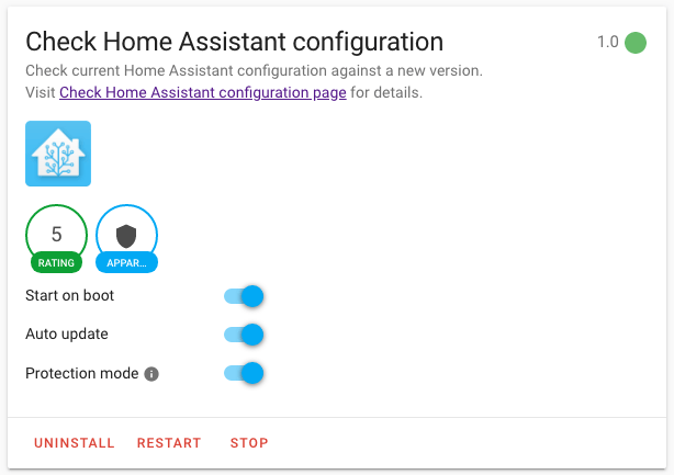 HASSIO - Check Home Assistant configuration