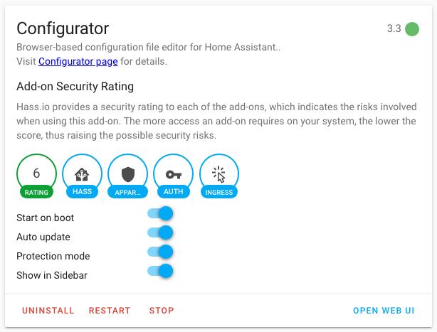 HASSIO - Configurator