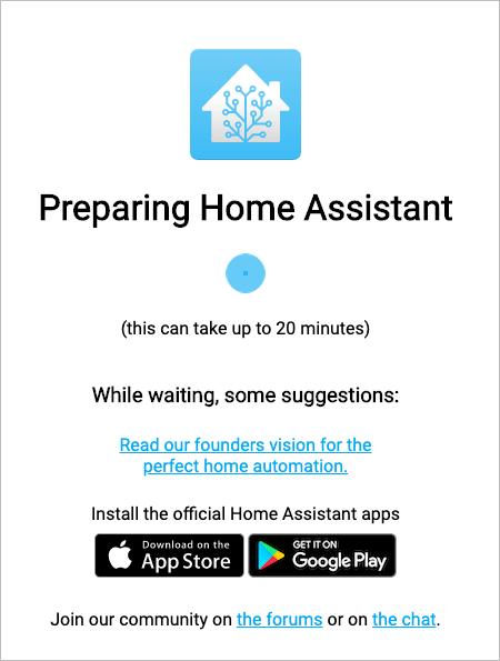 HASSIO Waiting screen