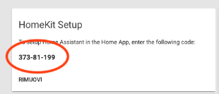 Home Assistant - HomeKit Code