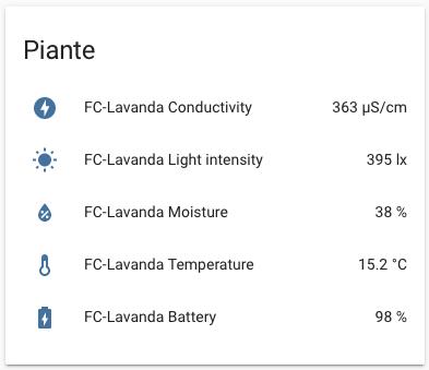 Home Assistant - Mi Flora plant sensor