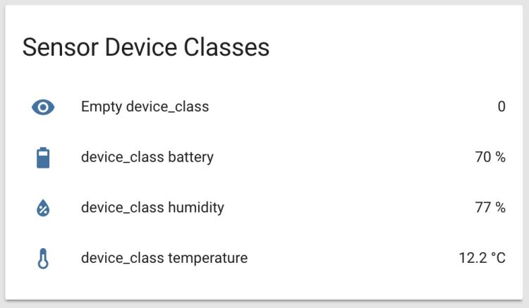 Home Assistant - Icone Componente Sensor