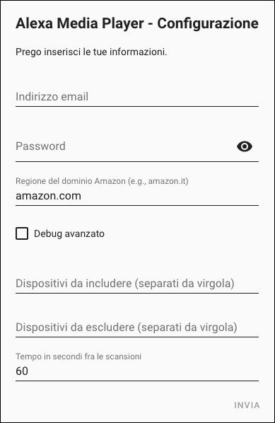 Home Assistant - Liste der Ergänzungen - Alexa Media Player