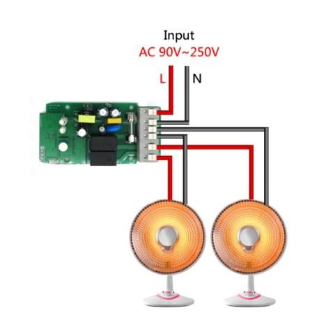 ITEAD Sonoff Dual - Collegamenti