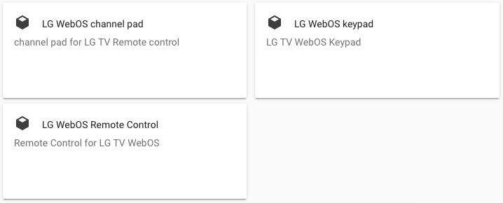LG TV WebOS - HCAS Plugins Lovelace