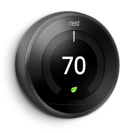 NEST Learning Thermostat V3 - Laterale - Black