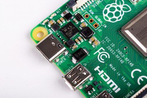 Raspberry Pi 4 B - power supply detail
