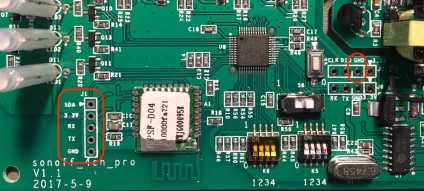 Sonoff 4channel board