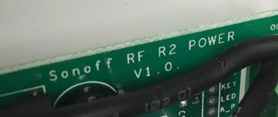 Sonoff Basic - RF R2 POWER V1.0 - Bezeichnung
