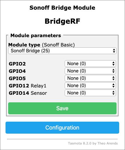 Sonoff-Tasmota - Sonoff RF Bridge