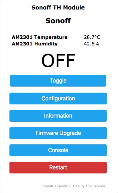 Sonoff-Tasmota TH-16 TH-10 Temperatura e Umidità - RES1