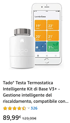 Tado° Testa Termostatica Intelligente Kit di Base V3+ - Offerta 20200212
