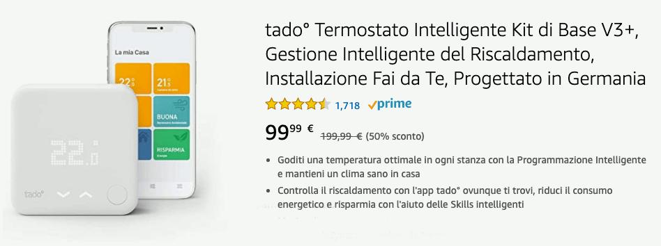 Tado Kit Termostato Intelligente V3+ - Offerta 20200514