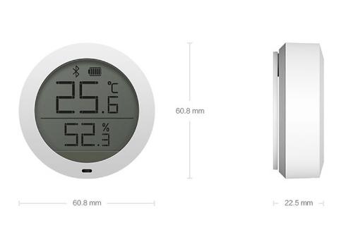 Termometro/Igrometro LCD Bluetooth Xiaomi Mijia - Dimensioni