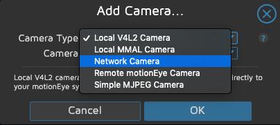 motionEye - Aggiunta IP Cam