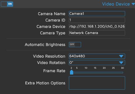 motionEye - Video Device