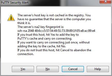 PuTTY keys warning