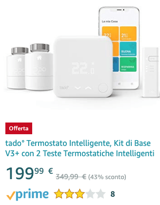 tado° Smart Thermostat, V3 + Base Kit with 2 Intelligent Thermostatic Heads - 20191209 Lightning