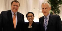 Jesse Kuijper, Ambassador Retno Marsudi and Bernard Bot