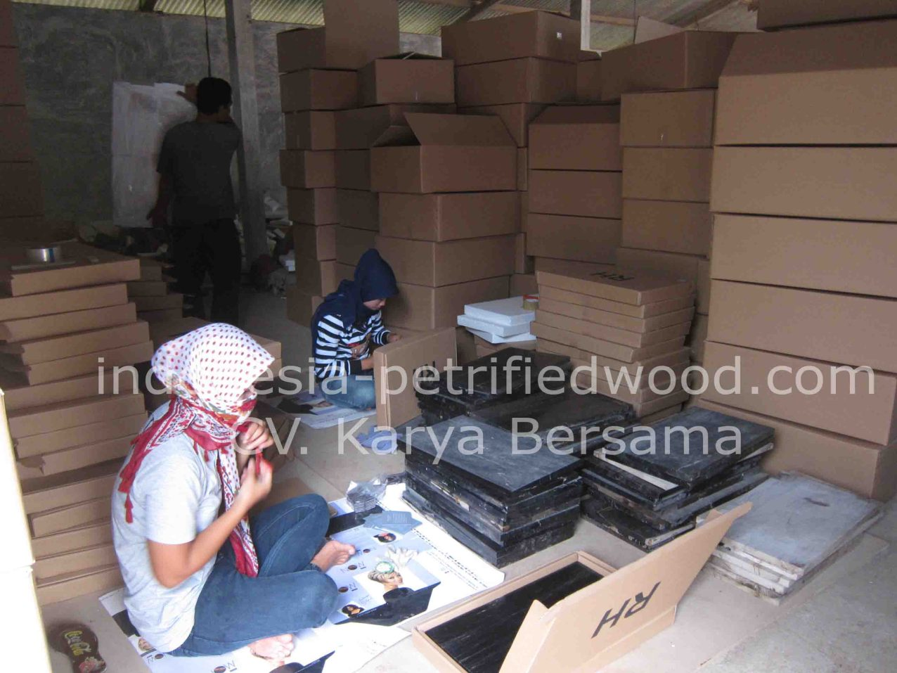 Packing Petrified Wood Tiles
