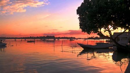 Isole Karimunjawa tramonto al porto
