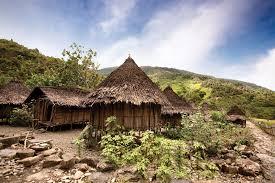 Irian Jaya Papua capanna tipica