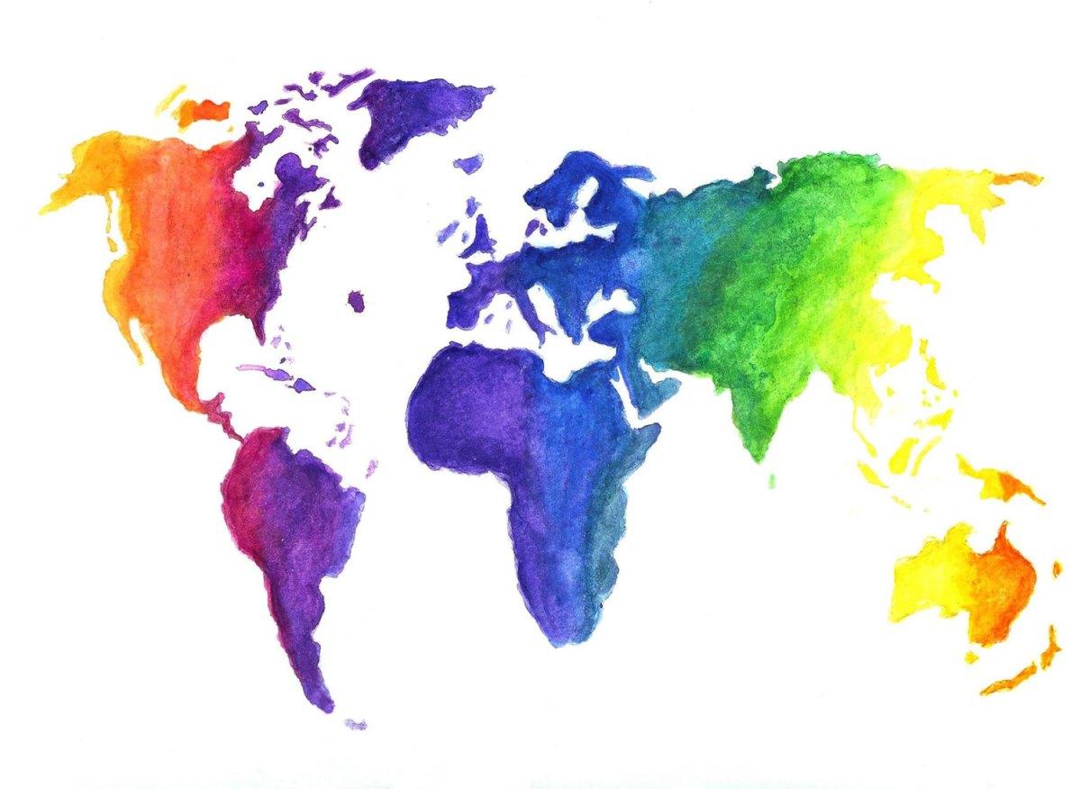 mappa colorata il mio mondo