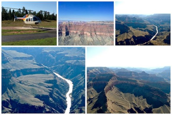 West Coast Grand Canyon dall'elicottero