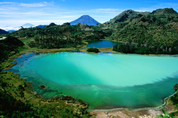 dieng plateau, java, indonesia