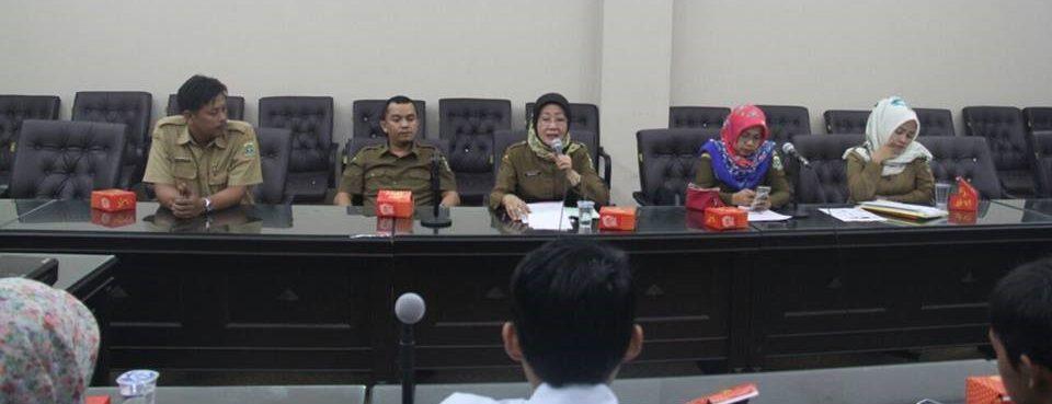 Audiensi bersama Dinas Kesehatan Provinsi Banten, Biro Kesejahteraan Rakyat dan Biro Sosial Provinsi Banten.