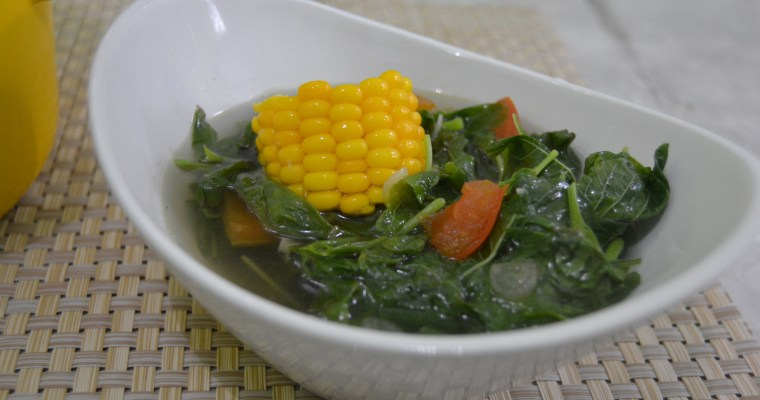 Chicken with Kecap Manis and Spinach and Sweet Corn Soup (part 2)