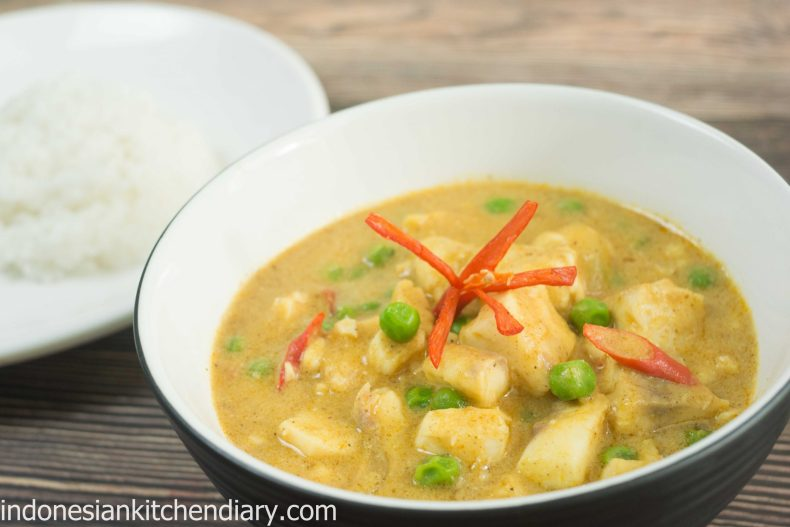 Fish and Peas Mild Curry
