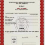 Indonesian Translation Service Elementary School Certificate