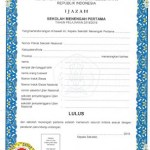 Indonesian Translation Service Junior High School Certificate