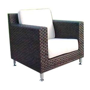 Point Dark Brown Wicker Chair