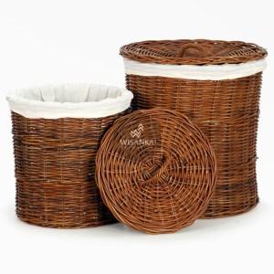 Cilinder Rattan Round Basket