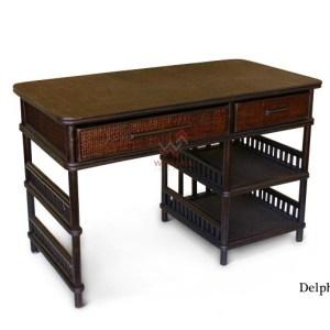 Delphi Rattan Desk Table