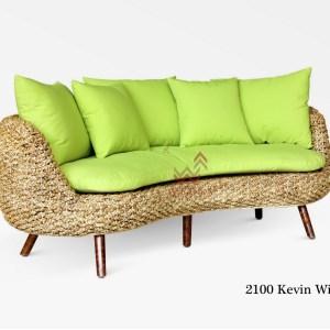 Kevin Curve Wicker Sofa