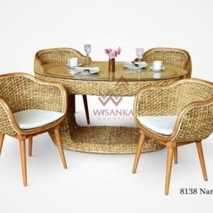 Naria Wicker Dining Set