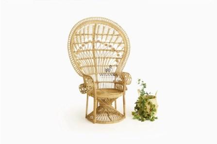 Peacock Rattan Arm Chair